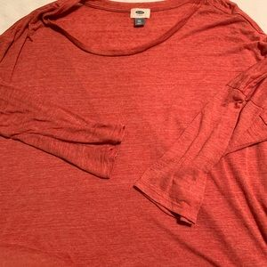 Red old navy 3/4 length sleeve